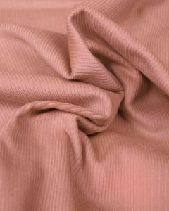 Pure Cotton Needlecord Fabric - Dusty Pink