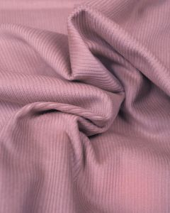 REMNANT Dusty Pink Cotton Needlecord Fabric - 100cm x 150cm