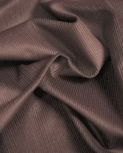 REMNANT Mink Cotton Needlecord Fabric - 90cm x 150cm