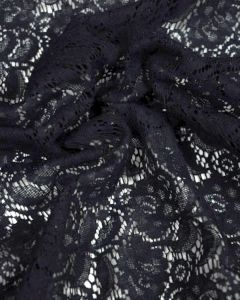 Fine Lace Fabric - Navy