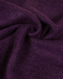 Felted Wool Jersey Fabric - Grape