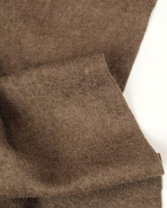 Boiled Wool Blend Jersey Fabric - Sable