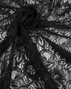 Corded Lace Fabric - Black