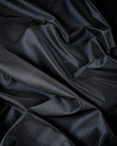Stretch Silk Blend Taffeta Fabric - Darkest Navy