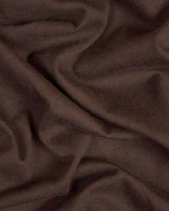 Organic Cotton Jersey Fabric - Chocolate