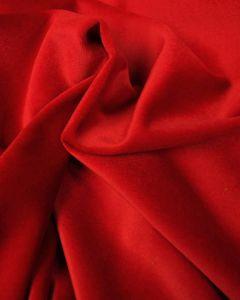 Cotton Velvet Fabric - Calypso Red
