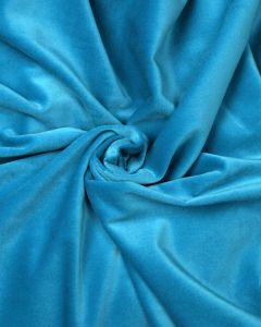 Cotton Velvet Fabric - Turquoise