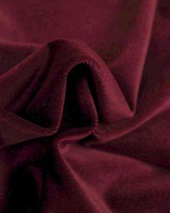 Cotton Velvet Fabric - Plum Purple