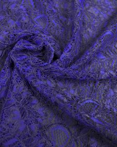 Corded Lace Fabric - Electric Blue