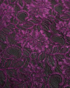 Corded Lace Fabric - Lupin