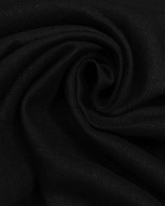 Pure Linen Fabric - Black