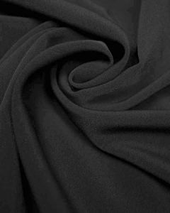 Luxury Crepe Fabric - Black