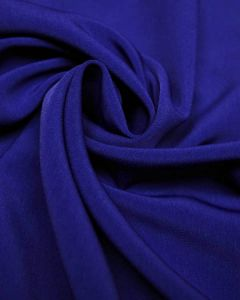 Luxury Crepe Fabric - Royal Blue