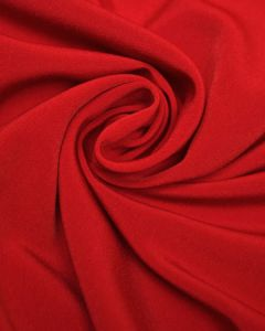 Luxury Crepe Fabric - Red