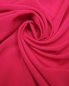 Luxury Crepe Fabric - Cerise