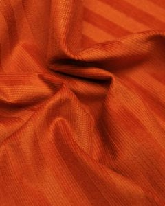 Stretch Needlecord Stripe Fabric - Orange