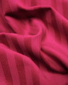 Stretch Needlecord Stripe Fabric - Cerise