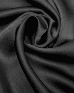 Luxury Crepe Back Satin Fabric - Black