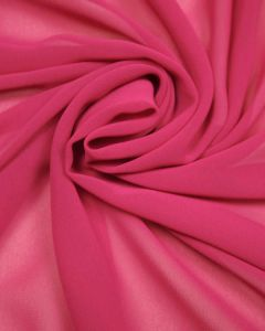 Luxury Polyester Georgette Fabric - Cerise