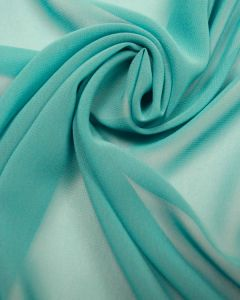 Luxury Polyester Georgette Fabric - Aqua