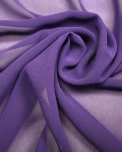 Luxury Polyester Georgette Fabric - Grape