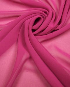 Luxury Polyester Georgette Fabric - Fuchsia