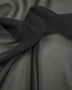 REMNANT Black Georgette Fabric - 200cm x 150cm