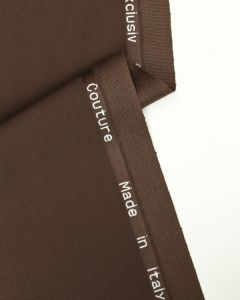 Ex Designer - Italian Wool Blend Suiting Fabric - Chocolate