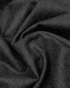 Brushed Wool Blend Twill Fabric - Charcoal
