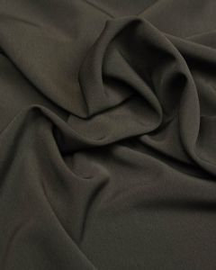 Luxury Crepe Fabric - Mid Grey
