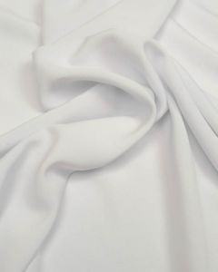 Luxury Crepe Fabric - White
