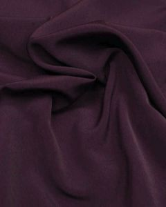 Luxury Crepe Fabric - Aubergine