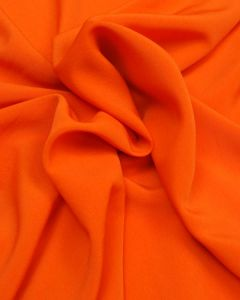 Luxury Crepe Fabric - Bright Orange