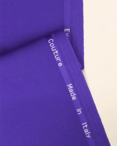 Ex Designer - Italian Wool Blend Suiting Fabric - Violet