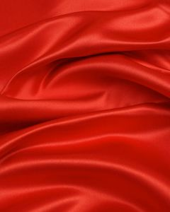 Polyester Duchesse Satin Fabric - Tomato Red
