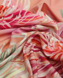 Polyester Crepe Fabric - Chrysanthemums