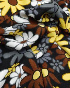 Viscose Blend Crepe Fabric - 60's Floral Dusk