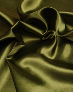 Stretch Crepe Backed Satin Fabric - Moss Green
