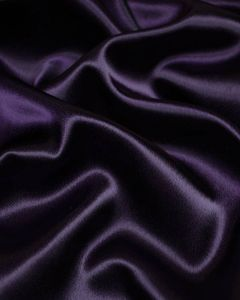 Stretch Crepe Backed Satin Fabric - Aubergine