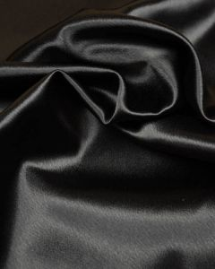Stretch Crepe Backed Satin Fabric - Black