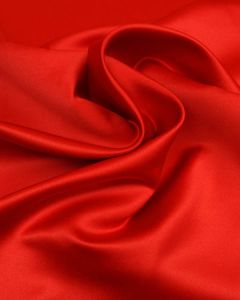 Polyester Duchesse Satin Fabric - Red