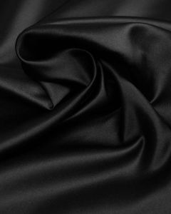 Polyester Duchesse Satin Fabric - Black