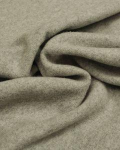 Wool & Cotton Blend Jersey Fabric - Grey