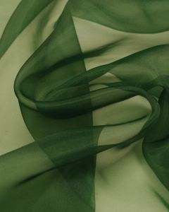 Polyester Organza Fabric - Mid Green