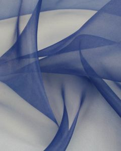 Polyester Organza Fabric - Mid Blue