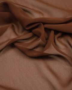 Polyester Chiffon Fabric - Chocolate