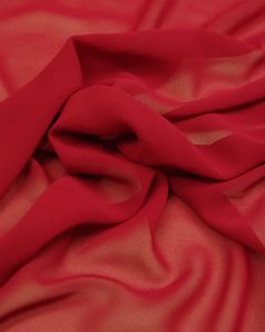 Polyester Chiffon Fabric - Cherry Red