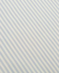 Pure Cotton Stripe Fabric - Baby Blue