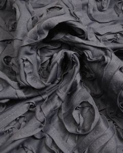 Ponte Jersey Fabric - Appliqué Swirls Grey