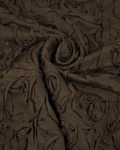 Ponte Jersey Fabric - Applique Swirls Brown